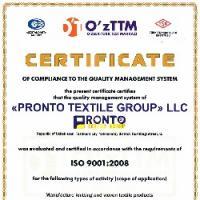Вручение сертификата соответствия системы менеджмента качества по новой версии стандарта ИСО 9001:2008